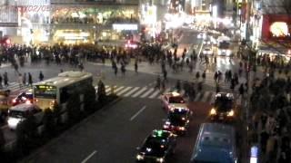 Japan Trip 2013 Tokyo Shibuya dougenzakashita Scramble crossing Night view 42