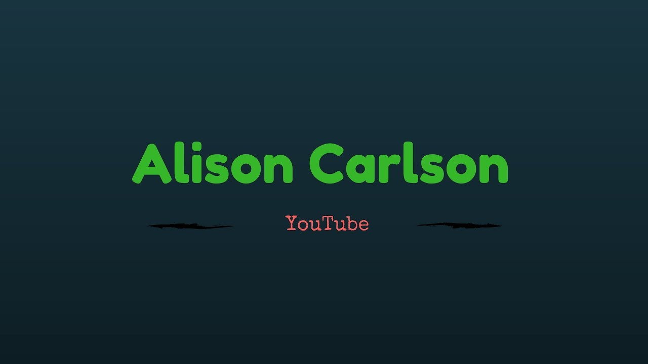 Youtube Alison Carlson nudes (99 photos), Sexy, Is a cute, Twitter, butt 2020