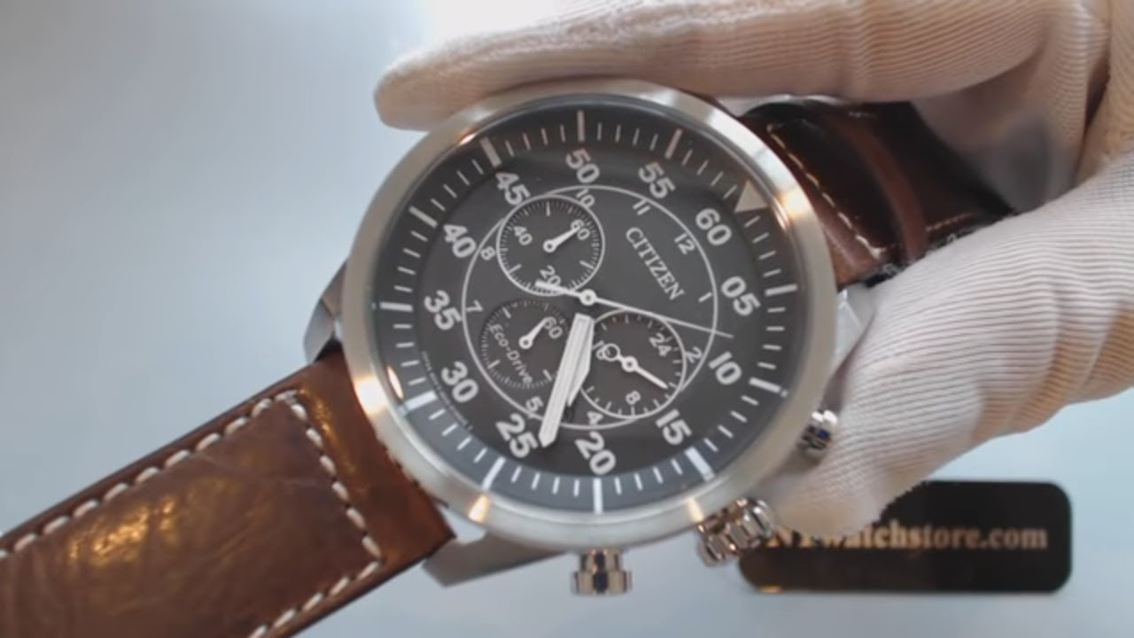8ea62993c Men's Citizen Eco Drive Aviator Chronograph Watch CA4210 16E - YouTube