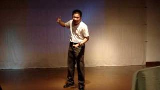 """Ron Capinding: Hamlet's """"What a rogue and peasant slave"""" in Filipino - (2006, I was much thinner)"""