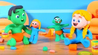 Kids Making Play Doh Figures ❤ Cartoons For Kids