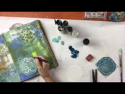 Mixed Media with Stencils Tutorials | StencilGirl Products