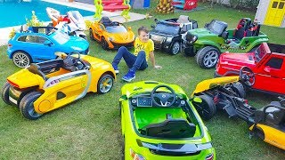 Ali Ride on Power Wheels in the garden, BST collection Toy Cars for Kids