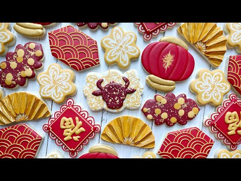 Satisfying Cookie Decorating | LUNAR NEW YEAR | The Graceful Baker