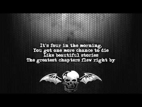 Avenged Sevenfold - 4 a.m. [Lyrics on screen] [Full HD]