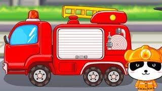 мультик - Пожарник Панда и ПОЖАРНЫЕ МАШИНКИ - Развивающий мультик для детей 2 -3 лет.