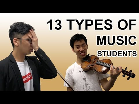 13 Types of Beginner Music Students