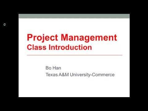 Project Management Course Introduction