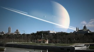 If the planets replaced our moon (Realistic)