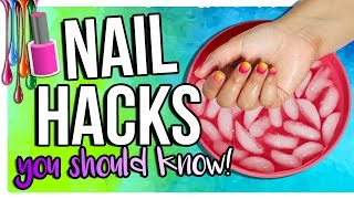 nail hacks every girl should know