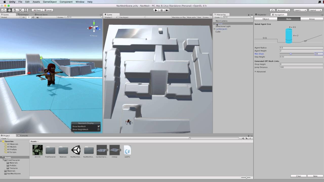 Creating a NavMesh with Spawning Agents in Unity 5