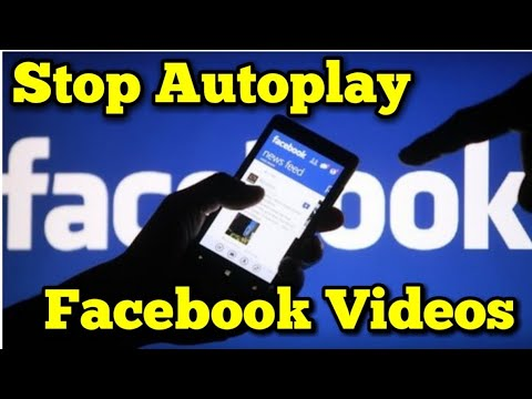 Turn off video autoplay facebook android 2019