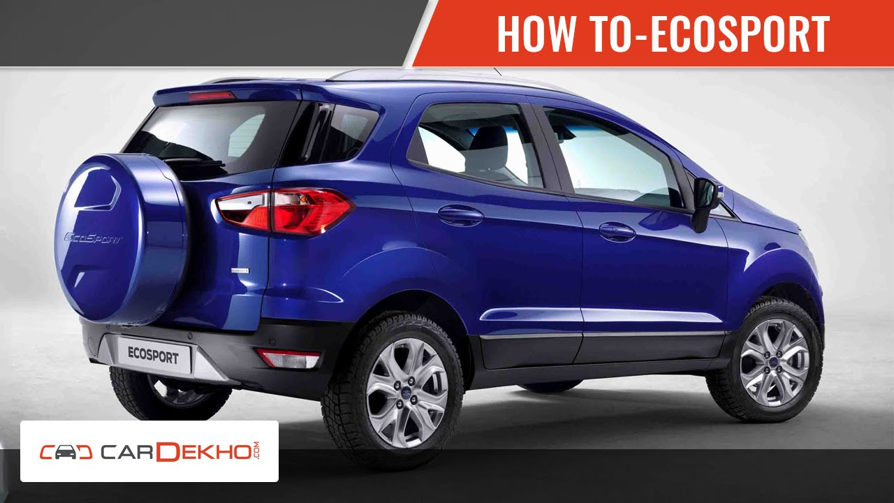 How To Open Boot In Ecosport Cardekho Com Youtube