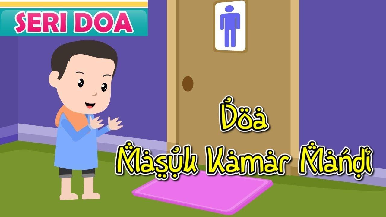 Hasil gambar untuk gambar tentang orang berdoa saat masuk kamar mandi
