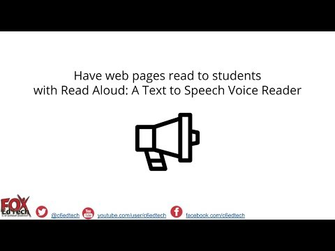 Read Aloud: A Text to Speech Voice Reader Chrome Extension
