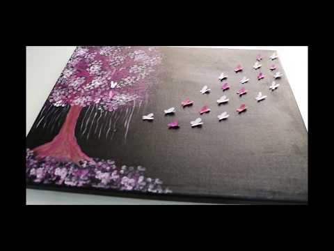 COTTON BUDS Painting Techniques for BEGGINERS   DIY Wall Art    Easy Step By Step
