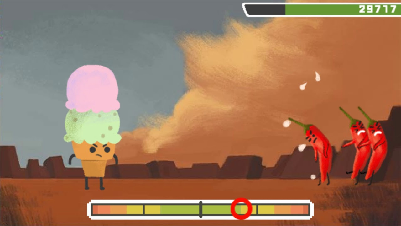 Google Doodle Wilbur Scoville Peppers And Ice Cream Game