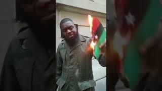 devant l'ambassade de libye en france