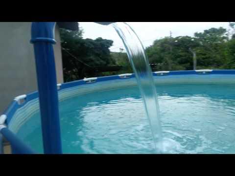 Cascata caseira piscina intex - Piscina a cascata ...