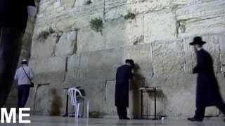 Jews praying at the Wailing Wall HD