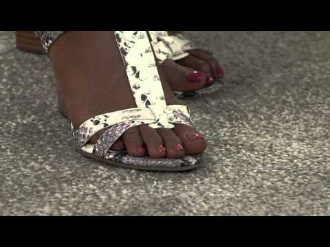 Marc Fisher Leather Wedge Sandals - Casandra with Shawn Killinger