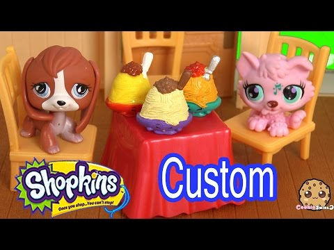 DIY Custom Shopkins Season 3 Netti Spaghetti Paint Craft Blind Bag Surprise Toy Video Cookieswirlc