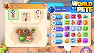 HOW TO COOK RECIPES in WORLD OF PETS! Norris Nuts Game
