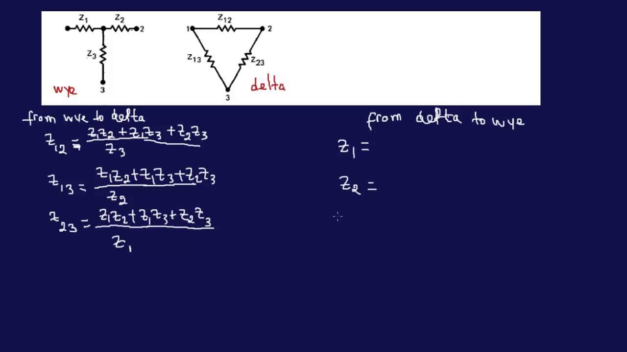 3 phase motor wiring deltum and wye deltum [ 1280 x 720 Pixel ]