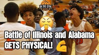 Battle of Illinois and Alabama Gets PHYSICAL! JD Davison Drops 36!