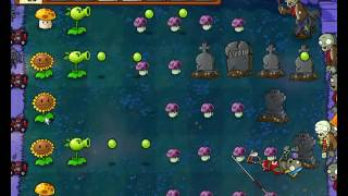 Plants vs Zombies уровень 2-4