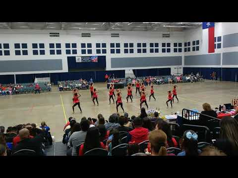 Los Obispos Middle School Silver Gems Team Kick at ADTS Competition 2018