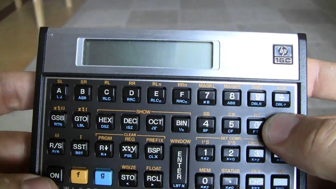 hp 16c computer engineering calculator 2538a youtube rh youtube com HP 12C Calculator HP-16C Calculator America