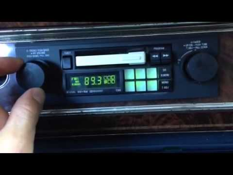 Vintage 80s car audio alpine 7269 shaft radio