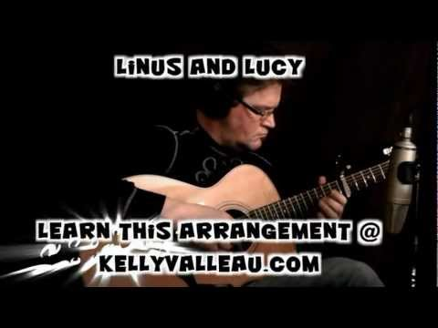 Linus and Lucy (Vince Guaraldi) Peanuts Theme - Fingerstyle Guitar