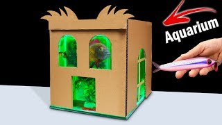 How to Make Aquarium from Cardboard at Home  - Do it Yourself (DIY)