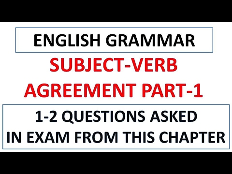 Subject Verb Agreement Part 1 For Sbi Po 2017ibps Exam 2017