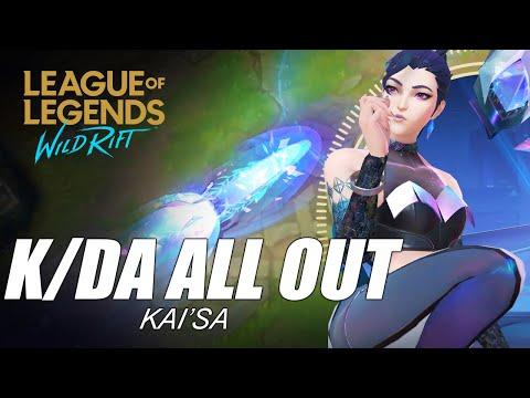 K/DA All Out Kai'Sa Skin Spotlight - WILD RIFT