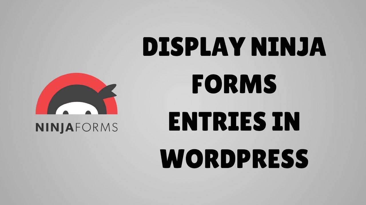 Display Ninja Forms entries in WordPress