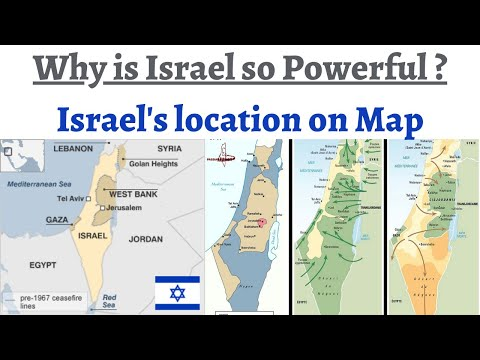 Understanding Land Border/history Of Israel Through Maps - Gaza Strip, Golan Heights, West Bank Etc.