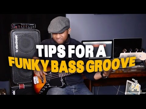 TIPS FOR A FUNKY BASS GROOVE -  JERMAINE MORGAN TV Ep.14 SN2- BASS TIPS