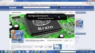 Envoyer des invitations automatiquement pour aimer une page facebook