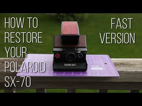 How to restore your Polaroid SX-70 (short version)