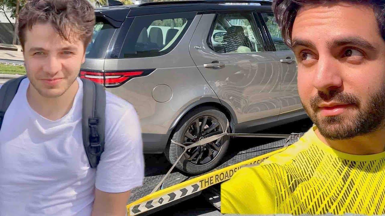 سوينا حادث في سيارة انس و اصالة الجديدة !!