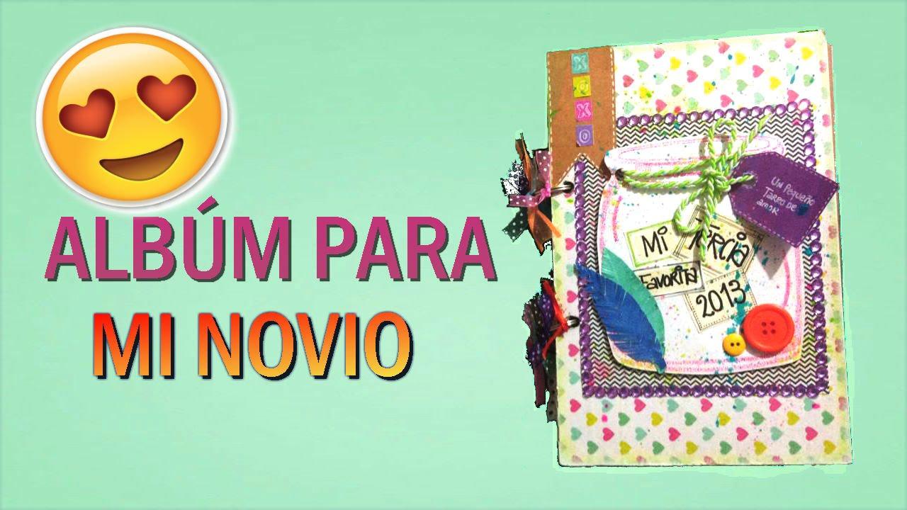 Album para mi novio scrapbook youtube for Imagenes de techos decorados