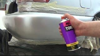 Покраска бампера с помощью аэрозолей Audi a6 c4 AVANT