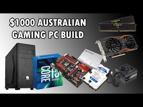 AMAZING $1000 AUSTRALIAN GAMING PC BUILD - DECEMEBER 2016