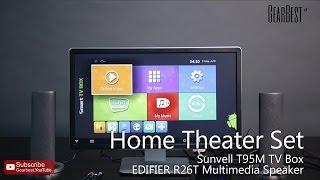 Home Theater Set: Sunvell T95M TVBox + EDIFIER R26T Speaker - Gearbest.com