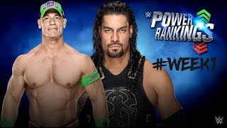 WWE POWER RANKING OF THE WEEK|DID ROMAN REIGN OVER WWE'S POWER RANKING?