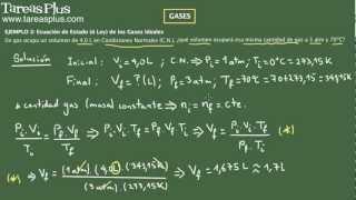 Gases y Ecuación de Estado parte 1