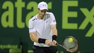 Andy Murray Hot Shot Qatar Exxonmobil Open 2017